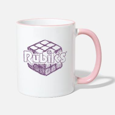 3d Combination Puzzle Rubik's Cube Hand Drawing - Two-Tone Mug