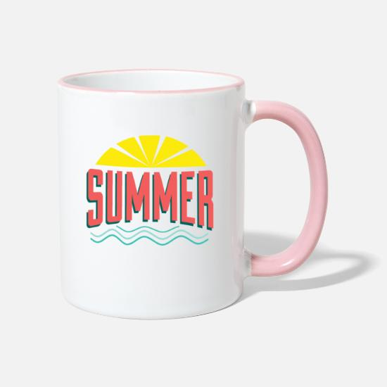 Gift Idea Mugs & Drinkware - buzzer - Two-Tone Mug white/pink