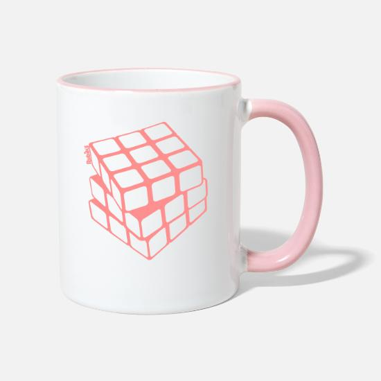 Geek Tazze & Accessori - Rubik's Cube Golden Outline - Tazza bicolor bianco/rosa