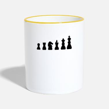 Schack Chess Evolution Chess Gift - Tvåfärgad mugg