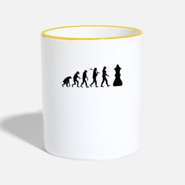 Chess Chess Evolution Chess Piece Gift - Contrasting Mug