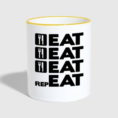 EAT EAT EAT REPEAT - Contrasting Mug