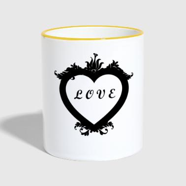 Heart contains love - love shirt, love, heart - Contrasting Mug