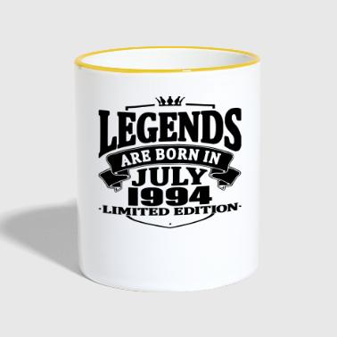 Legends are born in july 1994 - Contrasting Mug