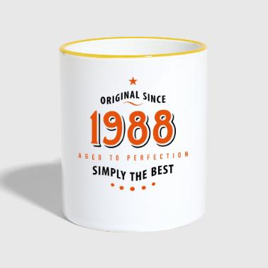 original since 1988 simply the best 30th birthday - Contrasting Mug