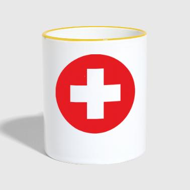 Switzerland flag - Kubek dwukolorowy