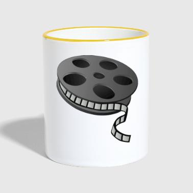 Cult Film Cinema film reel - Contrasting Mug