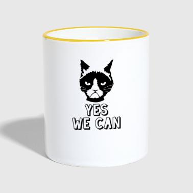 Yes We Can Oui, nous pouvons / chat - Mug contrasté