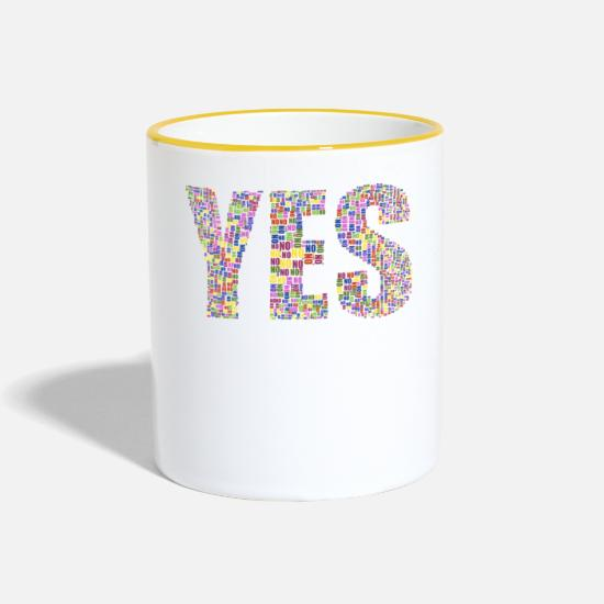 Yes We Can Mugs et récipients - OUI - Mug bicolore blanc/jaune