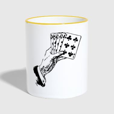 Playing Cards Cards Poker Gift - Contrasting Mug