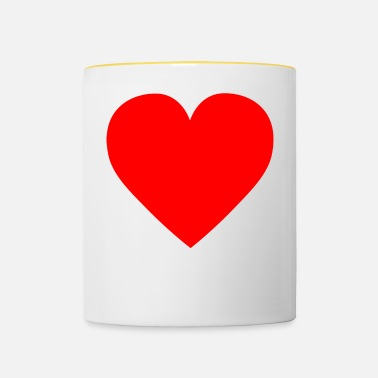 Heart Heart red - Contrasting Mug