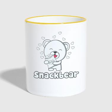 Snack bear / snack bear with heart - Contrasting Mug