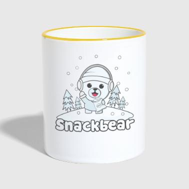 Snack bear / snack bear in the snow - Contrasting Mug