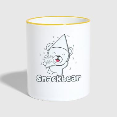 Snack bear / snack bear with hat - Contrasting Mug