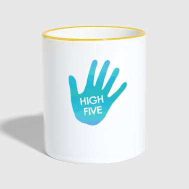 High Five - Tasse zweifarbig