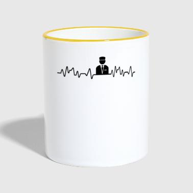 Heartbeat Hotel Professional T-Shirt Hotel Industry - Contrasting Mug