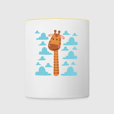 Giraffe Long Neck - Mug contrasté