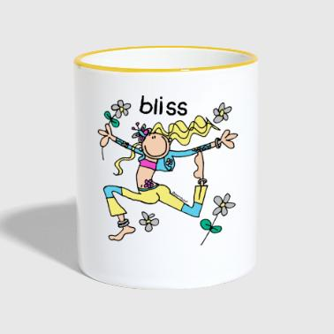 'bliss' - groovy chick friend - Contrasting Mug