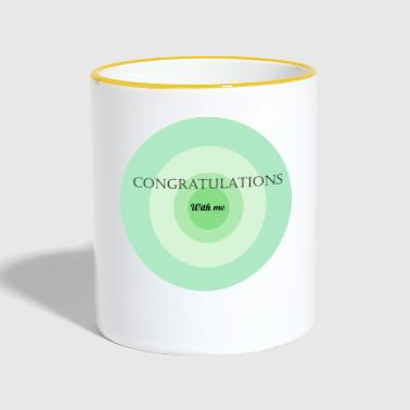 congratulations with me - Contrasting Mug