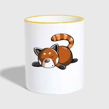 Not Today Red Panda - Panda - Pandas - Contrasting Mug
