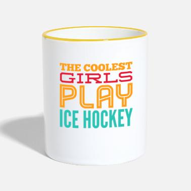Hockey The Coolest GIRLS Gioca a Ice Hockey - Regalo - Tazze bicolor