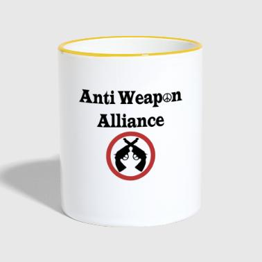 Anti Weapon Alliance - Anti Waffen Allianz - Tasse zweifarbig