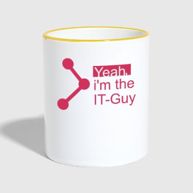 IT-Guy, T-shirt for the IT guy with style - Contrasting Mug