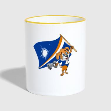 Marshall Marshall Islands fan dog - Contrasting Mug