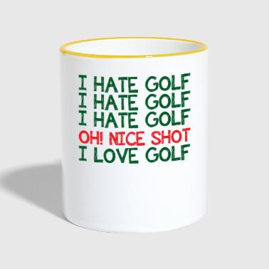Golf Caddy Golf Course Putter Yardage Gift Tee - Taza en dos colores