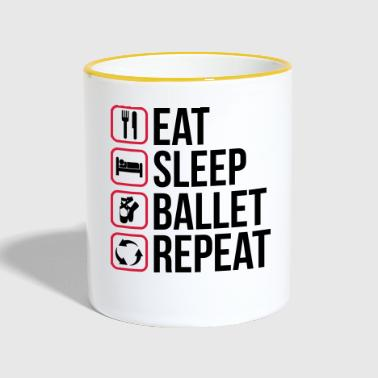 Eat Sleep Ballet Repeat - Taza en dos colores