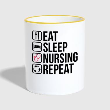 Eet Sleep Nursing Repeat - Mok tweekleurig