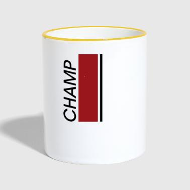 CHAMP modern, stylish Design - Tasse zweifarbig