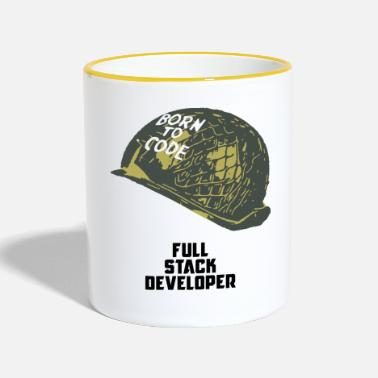 Programista Full Stack Developer - Born To Code - Kubek dwukolorowy