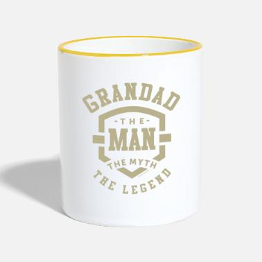 Grandad Grandad The Myth - Two-Tone Mug