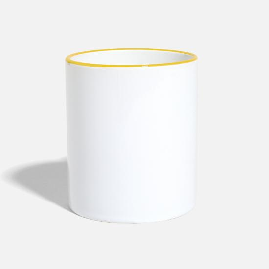Birthday Mugs & Drinkware - best tailor - Two-Tone Mug white/yellow