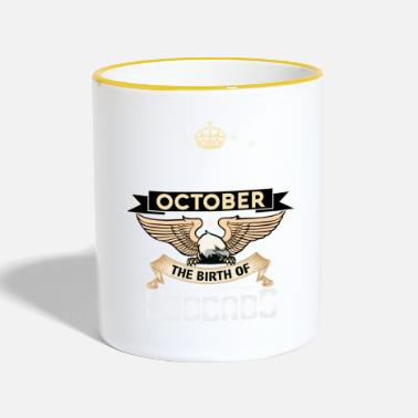 October BORN IN OCTOBER - Two-Tone Mug