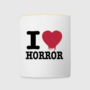 i love horror - Tazze bicolor