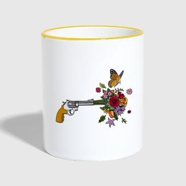 The revolver of peace - Contrasting Mug