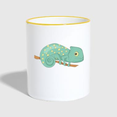 Chameleon on a branch - Contrasting Mug