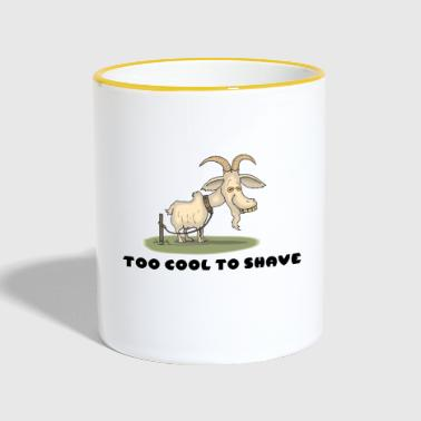 too cool to shave - Tasse zweifarbig
