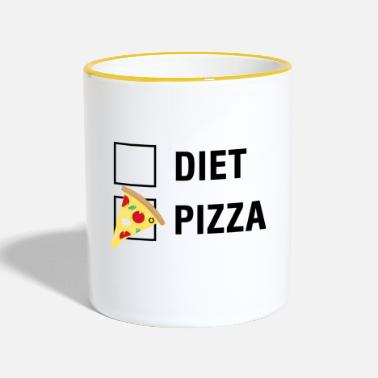 Aanvinken Pizza VS Diet Food Lover - Mok tweekleurig