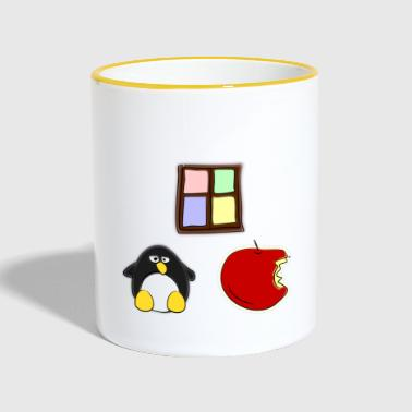 Linux Apple Windows - Tasse zweifarbig