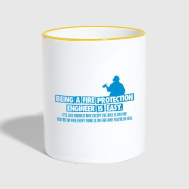 Being Fire Protection Engineer - Fire Department - Contrasting Mug
