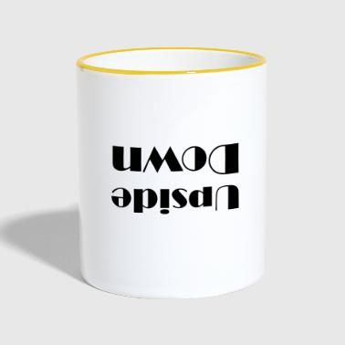 Upside down mirrored upside down - Contrasting Mug