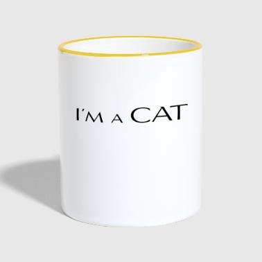 Chat animal de compagnie Je suis un chat - Mug contrasté