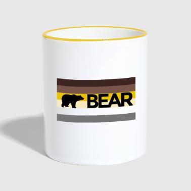 Bear LGBT bear community flag - Tazze bicolor