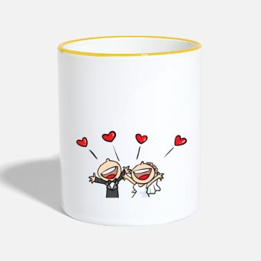 Just Carino Just Married - Tazze bicolor