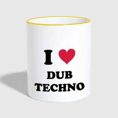 I Love Techno DUB - Tazze bicolor