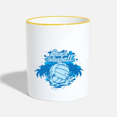 Beach Volleyball Beach Volleyball - Tasse zweifarbig