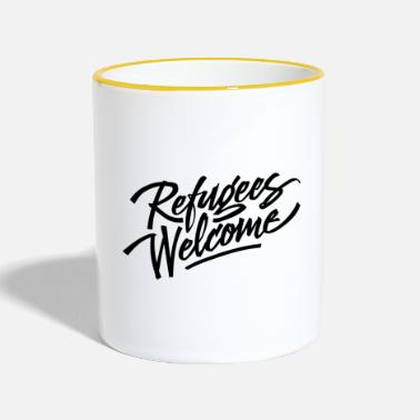 Refugees Welcome refugees welcome - Contrasting Mug